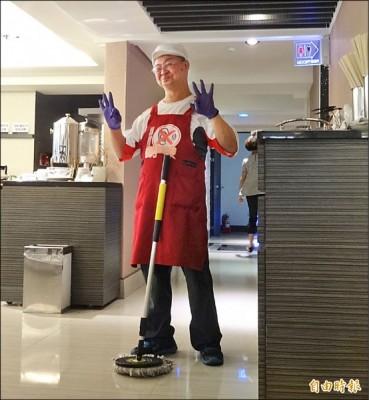 [新聞] 〈南部〉多重障礙男做清潔員 主管讚很OK